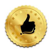 Golden quality mark seal — Stock Vector