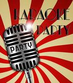 Karaoke party poster — Vetor de Stock