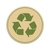 Paper recycle sticker — Stock Vector
