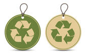Two paper recycle tags — Stock Vector