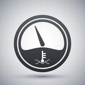 Icona del misuratore di temperatura motore — Vettoriale Stock
