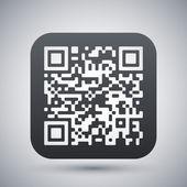 Vector QR code icon — Stock Vector