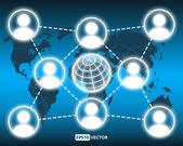Vector social network concept — Stock Vector