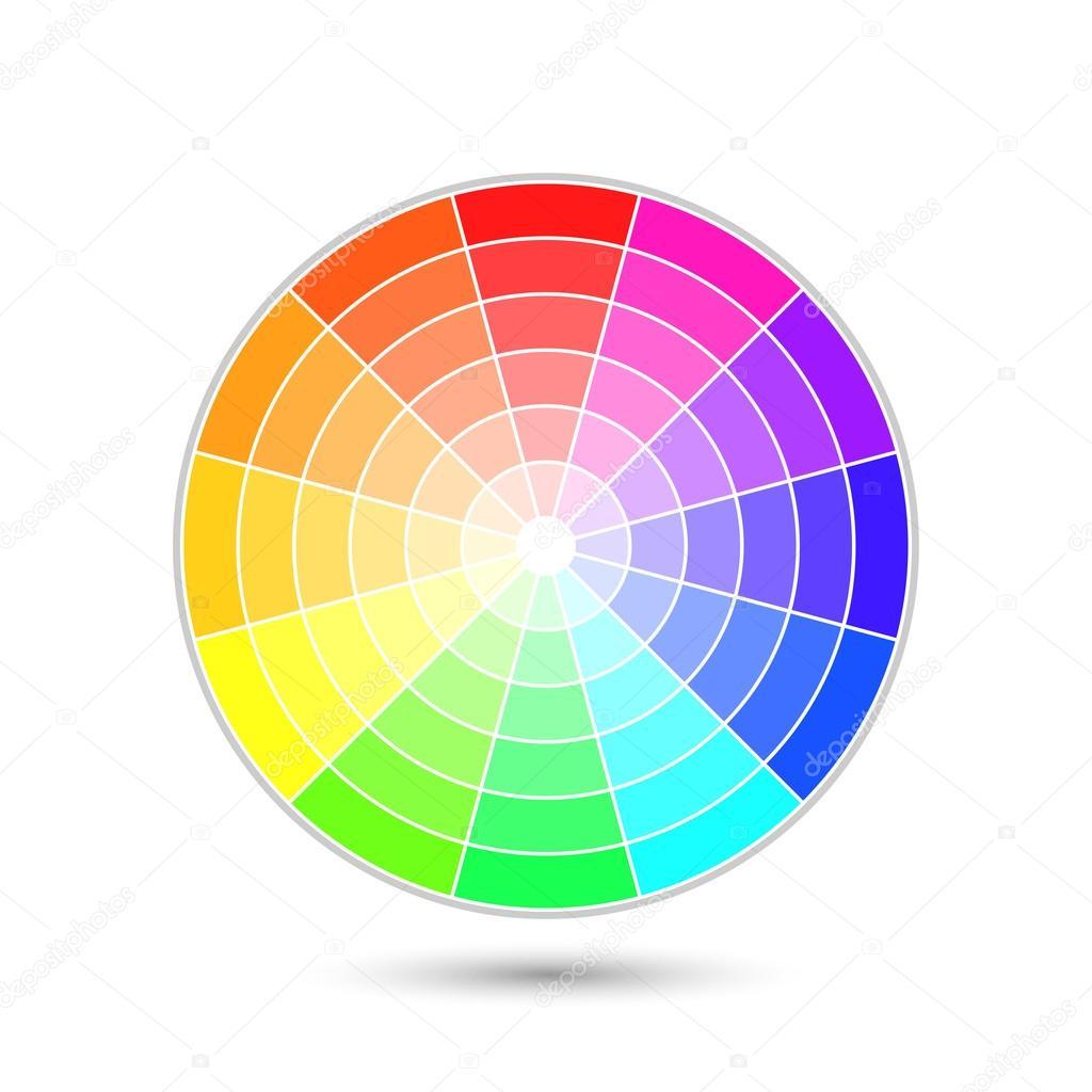 Roue chromatique vector image vectorielle realvector - Roue chromatique des couleurs ...
