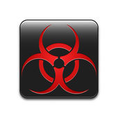 Vector biohazard sign or icon — Stock Vector