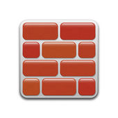 Vector firewall icon — Stock Vector