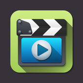 Vector clapboard icon — Vettoriale Stock
