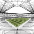 Stock Photo: Wireframe stadium