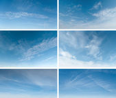 Blue sky collection — Stock Photo