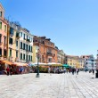 Picturesque Venice seafront in summer sunny day — Stock Photo