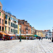Picturesque Venice seafront in summer sunny day - Stock Photo