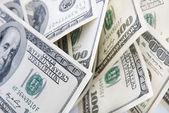 Geld achtergrond van amerikaanse honderd dollar bankbiljetten — Stok fotoğraf