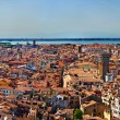 Venice cityscape - panorama view from Campanile di San Marco — Stock Photo #22460067