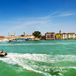 The panorama of Venetian Lagoon, Venice, Italy - Stock Photo