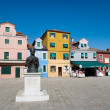 The statue of Baldassare Galuppi, Burano, Italy — Stock Photo