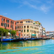 Venice Grand canal with gondolas and Rialto Bridge, Italy — Stock Photo #22460291