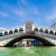 Venice Grand canal with gondolas and Rialto Bridge, Italy — Stock Photo #22460309