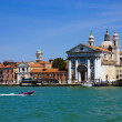 The scenery of Venice from a boat, Italy — Stock Photo