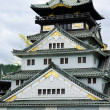 Osaka Castle (Osaka Fortress) in Osaka, Japan, closeup - Stock Photo