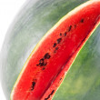 Red ripe watermelon isolated on white background — Stock Photo