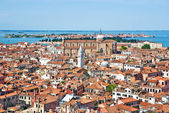 Venice cityscape - view from Campanile di San Marco. Italy — Stock Photo