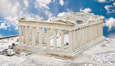 Parthenon Temple in Acropolis, Athens, Greece, against blue sky — Stock Photo