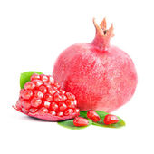 Ripe pomegranate isolated on the white background — Stock Photo