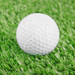 Golf ball on green golf field — Stock Photo #25796605