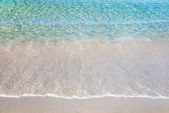 Beautiful summer sea sandy beach — Stock Photo
