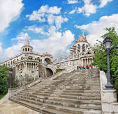 Fisherman's Bastion in Budapest, Hungary, after the rain — Stock Photo