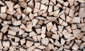 Background of cutted pine logs — Stock Photo