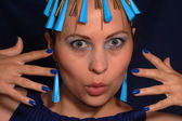 蓝色珠宝首饰 — 图库照片