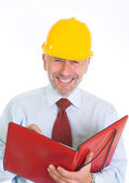 Grin of an engineer — Stock Photo