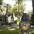 Cemetery on All Saints' Day - vertical image — Stock Photo