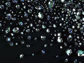 Variety of diamonds — Stock Photo