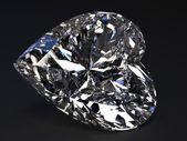 Beautiful heart-shaped diamond — Stock Photo