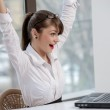 Bussineswoman with laptop — Stock Photo #25430791