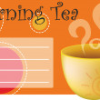 Background for text with a cup of tea — Stock Vector