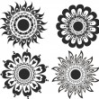A set of flower tattoos - Stock Vector