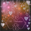 Royalty-Free Stock Vector Image: Background with hearts and reflections in a romantic style