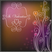 St. Valentine background — Stock Vector