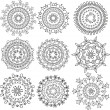 Stock Vector: Floral patterns in form mandala