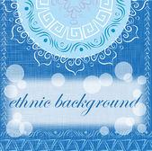 ブルーの色調で民族的背景 — ストックベクタ