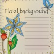 Floral background in caricatured style — Imagen vectorial