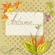 Stock Vector: Autumn floral background for text