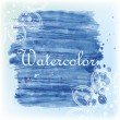 Watercolor background with ornament — Stock Vector