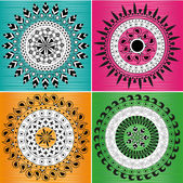 Мандала Индийская орнамент — Cтоковый вектор