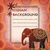 Background with texture and Indian elephant — Stock Vector