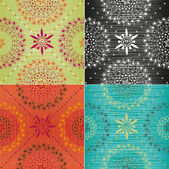 Set of textures in trendy colors — ストックベクタ