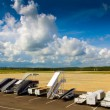 Landscape of airfield in Krabi — Stock Photo